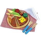 Santoys st708Holz Play Lebensmittel Steak Mahlzeit Set