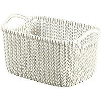 CURVER 3253923975000 Caja y Cesta de almacenaje - Cajas y cestas de almacenaje (Storage Basket, Color Blanco, Prendas de Punto, Monótono, Rectangular, Interior)