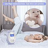 DBPOWER digitales Babyphone mit Temperatursensor, Zwei-Weg und Gegensprechfunktion, 300m Reichweite um immer im Kontakt mit Babys zu bleiben - 4