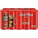 Capitán Morgan Spiced original del oro y de Cola 10 x 250ml