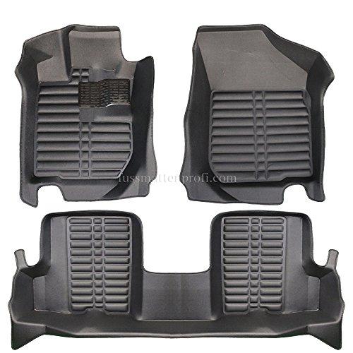 fussmattenprofi.com Tapis de Sol Voiture 3D Premium sur Mesure Adapté pour Dacia Sandero (1.Gen) 2008-2012