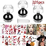 Whaline 205Pcs Halloween Party Cosplay Prop Decoration, Vampire Fangs Teeth with Adhesive