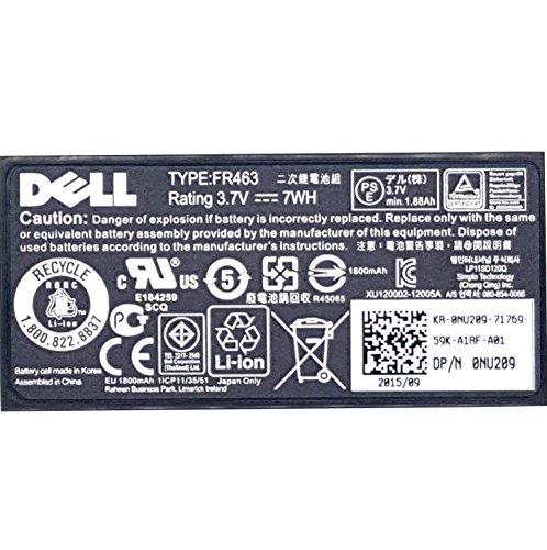 Dell Original 312-0448 FR463 NU209 P9110 Batteryfor PERC 5i 6i 5E 6E SAS Raid