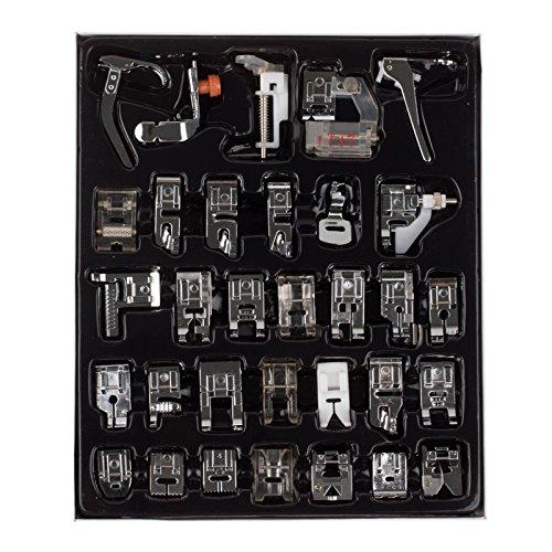 Kit de prensatelas para máquina de coser dobladillo pie piezas de repuesto accesorios para Brother Singer Set de 32pcs