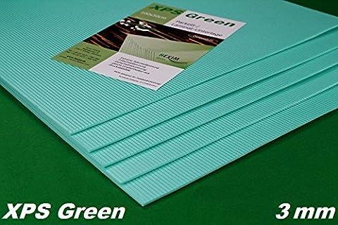 20 m2 Trittschalldämmung Boden Unterlage für Laminat & Parkett, 3mm - XPS Green