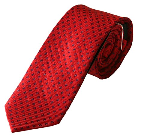 Pietro Baldini Krawatte uni rot mit edler Struktur,100% Seide, handgefertigt,sehr edel und elegant. Wunderschöne Struktur.D1840-8