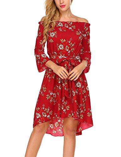 HOTOUCH Damen Schulterfreies Kleid Abenkleid Cocktailkleid ...