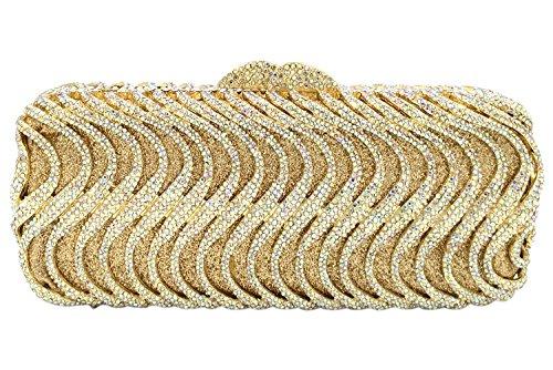 Frizioni Donna Sera Pochette Borsetta Portafoglio Partito Cerimonia Borsa Sposa Spalla Eleganti Oro Gold