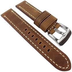 PAN Ersatzband Uhrenarmband Kalbsleder Braun 22324S, Stegbreite:22mm