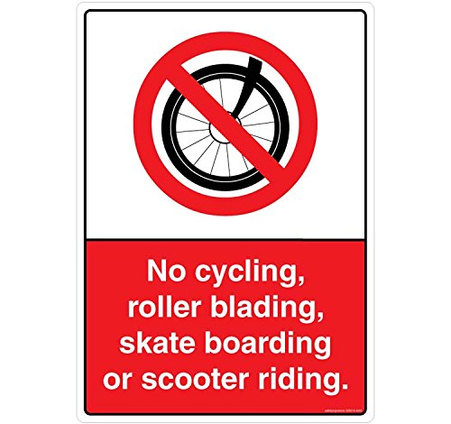 safety-sign-store-no-ciclismo-roller-skate-imbarco-o-scooter-materiale-autoadesivo-3m-in-policarbona
