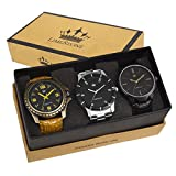 #6: Limestone Analogue Multi-Colour Dial Men's Watch -LS2601+2602+2607