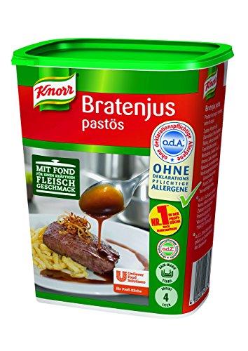 Knorr Bratenjus pastös (vielseitig anwendbar für Bratensaft, Bratensoße (gravy) und braune Soße), 400 g -