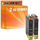 Gorilla-Ink® 2x Tinten-Patrone XL 29XL GI2991 Schwarz kompatibel für Epson Expression Home XP-235 XP-245 XP-247 XP-330 Series