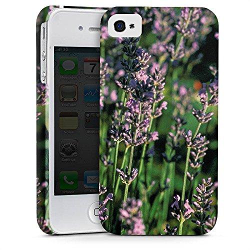 Apple iPhone X Silikon Hülle Case Schutzhülle Lavendel Blumen Natur Premium Case glänzend