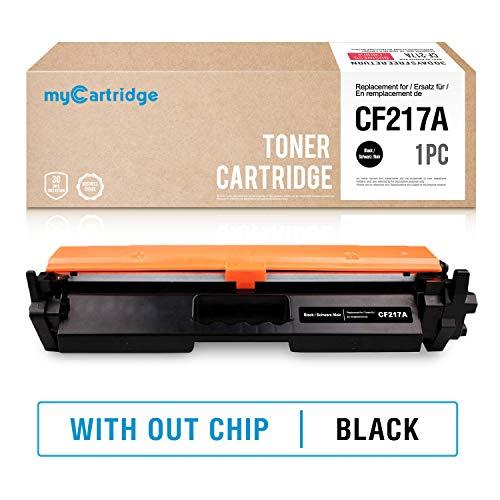 MyCartridge Negro Cartucho de t¨ner Compatible HP 17A CF217A para HP Laserjet Pro M102a M102w MFP M130a M130nw Impresora