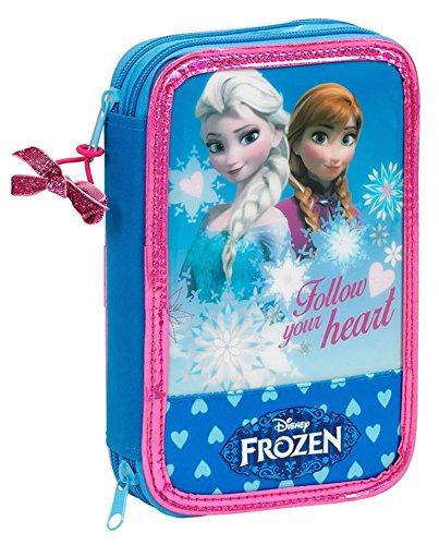 Frozen–Estuche escolar garnie doble Deluxe azul Frozen
