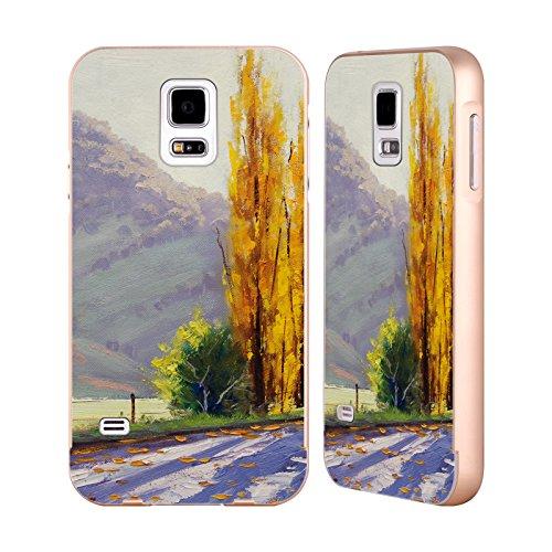 Head Case Designs Offizielle Graham Gercken Tumut Pappel Herbst Gold Rahmen Hülle mit Bumper aus Aluminium für Samsung Galaxy S5 / S5 Neo