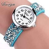 Orologi da donna, Fittingran Il braccialetto delle donne guarda le signore della radura che guarda gli orologi femminili sull'orologio di cuoio di vendita (Blu)