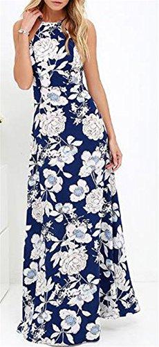 Damen Kleid LOBTY Sommer Lang Etuikleid Spitzekleid Sommerkleid Maxikleid  Abendkleid Cocktailkleid Partykleid Spitze Eng Neckholder Ärmellos ... 4c820b868f