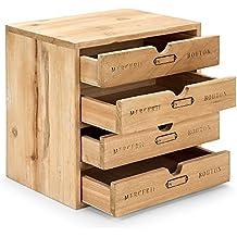 Caja vintage. Cajonera para organización del material de costura y manualidades. Original y diferente. Tamaño 25 x 25 x 18 cm.