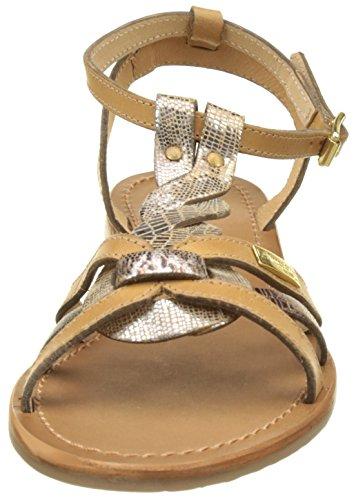 Les Tropéziennes par M. Belarbi Hams, Sandales Femme Jaune (Miel/Bronze)