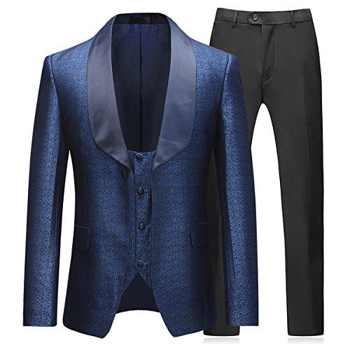 Herren Anzug 3 Teilig Slim Fit Business Hochzeit Party von MODISCHE Design
