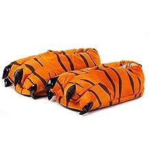 Kigurumi Zapatillas de Felpa con Garras, Pantuflas de estar por Casa Pata de Animal - Cosplay - Talla Unica UE 37-45 para Adultos Unisexo - Naranja-Negro