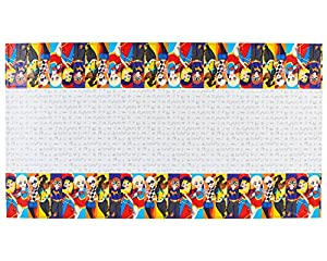 Amscan International-5716091,37x 2,43m CC Super Hero Niñas Plástico Funda para mesa