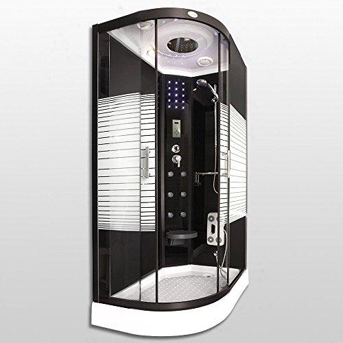 Home Deluxe Black Pearl 120x80 cm links Duschtempel, inkl. Dampfsauna und komplettem Zubehör - 3