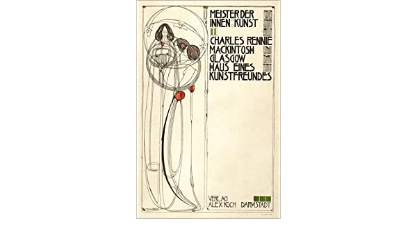 poster 20 x 30 cm: house of an art lover: cover by charles rennie  mackintosh/akg-images art print, new art poster: charles rennie mackintosh:  amazon co uk: