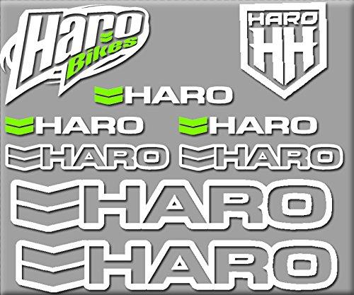 R200 STICKERS AUFKLEBER DECALS AUTOCOLLANTS ADESIVI BLANCO (Haro Bikes)