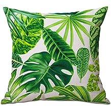 """cosanter cojín Tropical verde hojas de planta manta funda de almohada para sofá coche decoración para el hogar 17,7"""""""