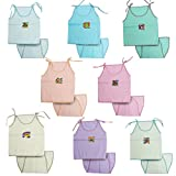 #6: Kurtzy New Born Baby Dress Pure Cotton Jabla Clothing with Nappies (0-6 Months)(Set of 8)