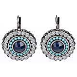 #10: Shining Diva Fashion Jewellery Oxidised Silver Stylish Earrings for Women (Blue, 9792er)