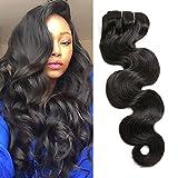 16' 7PCS 120g Body Wave Hair Clip In Hair Extensions Human Hair Double Weft Brazilian Virgin Hair Full Head Clip on Remy Human Hair Extensions for Africa Amrica Black Women