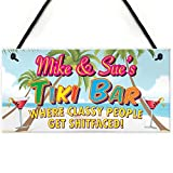 Best Gift Garden Friends Keepsakes - Red Ocean Personalised Tiki Bar Beach Cocktails Alcohol Review