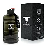 #10: Traniac 2.2 Liter Extra Large Tritan Water Bottle for Men & Women – 100% Leakproof & Dishwasher Safe – Lightweight & Easily Portable – Fitness Bottle for Gym, Running, Training