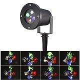 S&G LED Weihnachtslichter IP65 Imprägniern Landschaft-Licht-Bewegungen Automatisch LED-Landschaft-Scheinwerfer-Projektor-Licht, Partei-Licht für Weihnachten (Mehrfarben)