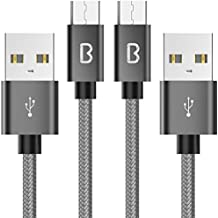 Cable Micro USB, Beikell 2M [2-Pack] 2.4A Cable Micro USB Trenzado de nylon-Cable USB Sincro y carga usb para Samsung Galaxy S7 / S7 Edge,Note 5 / 4 / 3,HTC,LG,Sony, Nexus, Blackberry, Nokia, Android