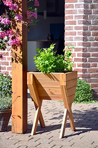dobar dekoratives hochbeet aus holz kiefer tischbeet bausatz f r gem se kr uter blumen. Black Bedroom Furniture Sets. Home Design Ideas