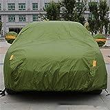 GLJY Auto-Cover, Auto-Cover Mit Fluoreszierenden Streifen UV-Schutz Allwetter-Schnee-Staub-Regen Wind-Resistent Outdoor Protector,Green,XXL
