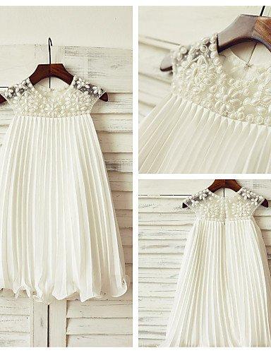 Xuanku Sheath Knee Length Flower Girl Dress - Chiffon Jewel Neck by thstylee