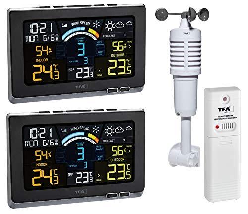 Funk-Wetterstation Spring Breeze Plus TFA 35.1140.01.Plus Sparset mit 2 Farb Displays und Zusatzsender