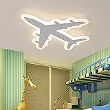 Lilamins Kinderzimmer mit einfachen und modernen LED-Decke kreative Persönlichkeit Flugzeuge Schlafzimmer Jungen und Mädchen Cartoon Eye Lampen für Wohnzimmer, Bad, Schlafzimmer und Esszimmer LED-Deckenleuchten, 54*48cm--36 W weißes Licht