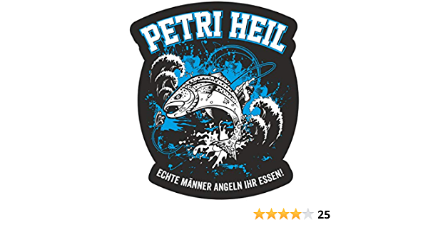 Wetterfester Aufkleber Petri Heil 11 Cm Oder 40 Cm Angler Angeln Fische Geschenk Auto