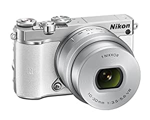 Nikon 1 J5 Compact System Camera - White (20.8 MP, 10 - 30 mm PD-Zoom Lens Kit, 4K Movie Shooting)