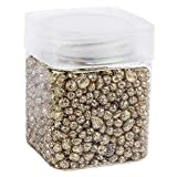 Ideen mit Herz Glitzernuggets aus Glas | Metallic-Deko-Granulat | Deko-Glitzer-Steine | Körnung: 2mm bis 7mm | 260g | ideal als Streu-Deko, Tisch-Deko Hochzeit (Gold)