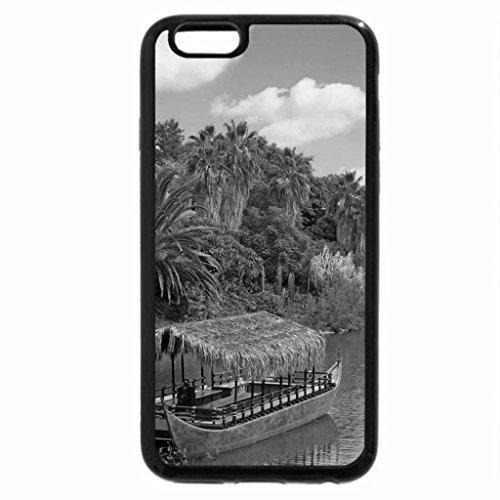 iPhone 6S Plus Case, iPhone 6 Plus Case (Black & White) - Exotic river cruise