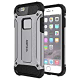 #9: Cubix Tough Armor Slim Rugged Military-Grade Drop Tested Case Defense Shield Shock Resistant Hybrid Heavy Duty Back Cover Case for Apple iPhone 6 Plus (Grey)