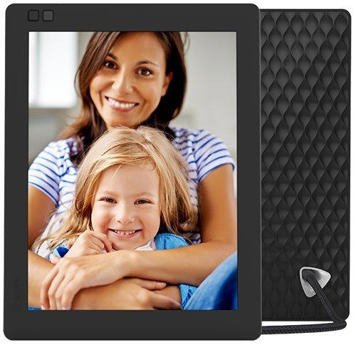 Nixplay Seed 25 cm (10 Zoll) Digitaler Bilderrahmen mit WLAN und Bewegungssensor, Fernbedienung – Schwarz